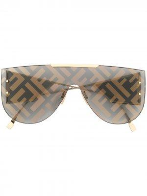 Солнцезащитные очки Fabulous 2.0 Fendi Eyewear. Цвет: золотистый