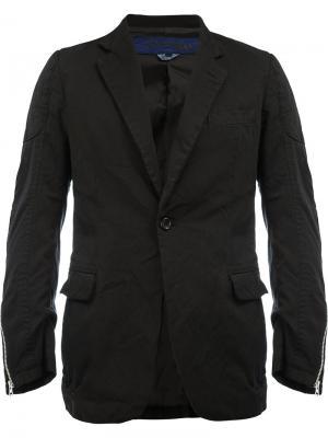 Пиджак с карманами клапанами Junya Watanabe Comme Des Garçons Man. Цвет: чёрный