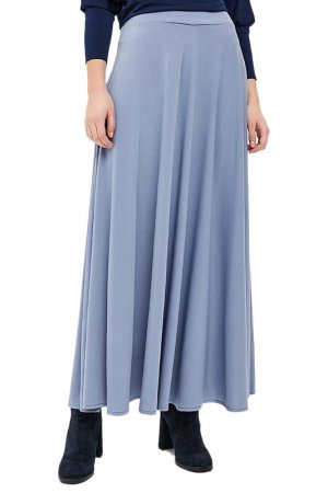 Юбка макси Alina Assi. Цвет: серо-голубой