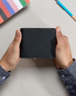 Кожаный бумажник Sandqvist. Цвет: черный