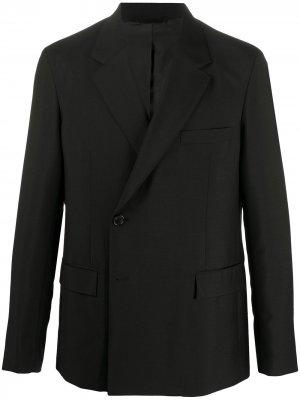 Пиджак с запахом Acne Studios. Цвет: черный