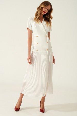 Платье-пиджак TOPTOP STUDIO. Цвет: белый