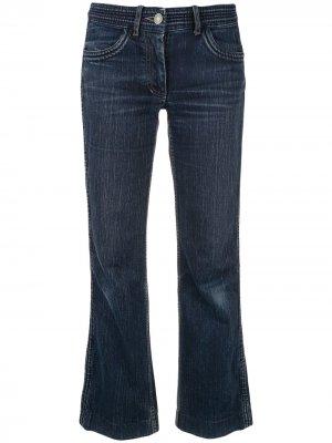 Укороченные джинсы прямого кроя Céline Pre-Owned. Цвет: синий