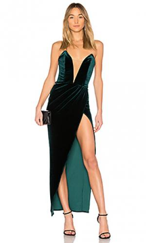 Бархатное вечернее платье jake Michael Costello. Цвет: зеленый