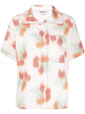 Рубашка Coquelicot прямого кроя Kenzo. Цвет: белый
