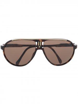 Солнцезащитные очки-авиаторы Champion Carrera. Цвет: коричневый