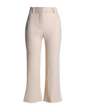 Повседневные брюки HAUTE HIPPIE. Цвет: бежевый
