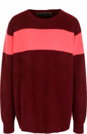 Кашемировый пуловер свободного кроя с круглым вырезом The Elder Statesman. Цвет: бордовый