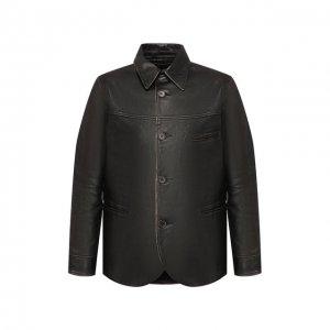 Кожаная куртка RRL. Цвет: чёрный