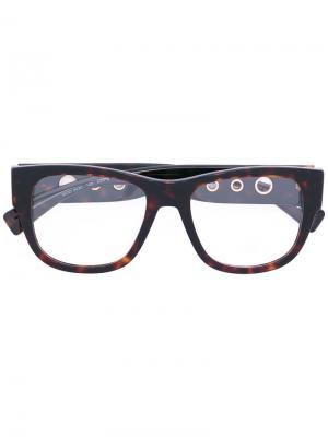 Очки в квадратной оправе Versace. Цвет: чёрный