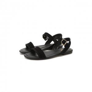 Замшевые сандалии Tod's. Цвет: чёрный