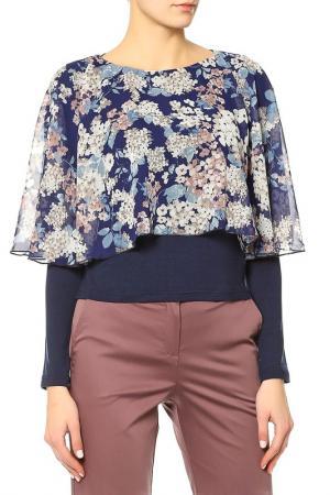 Блуза Adzhedo. Цвет: синий, цветы
