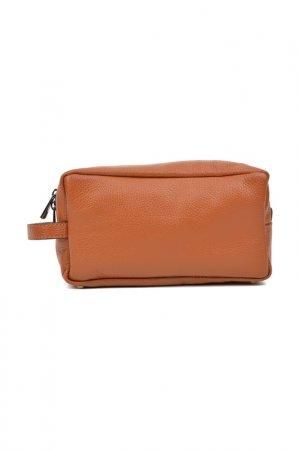 Cosmetic Bag CARLA FERRERI. Цвет: brown