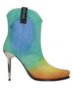 Полусапоги и высокие ботинки EACH X OTHER. Цвет: светло-зеленый