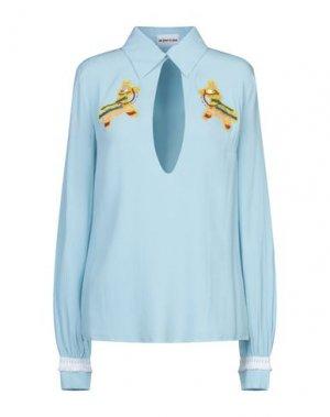 Блузка AU JOUR LE. Цвет: небесно-голубой