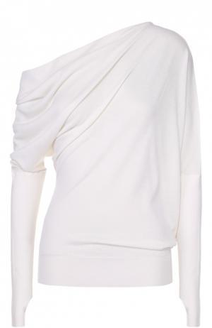 Кашемировый пуловер асимметричного кроя Tom Ford. Цвет: белый