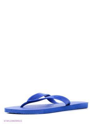 Шлепанцы DUPE. Цвет: синий