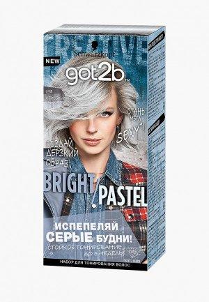 Краска для волос Got2B BRIGHT/PASTEL, 098, Серебристый металлик, 80мл. Цвет: серебряный