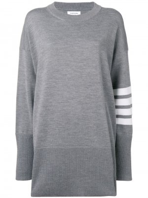Пуловер оверсайз с полосками 4-Bar Thom Browne