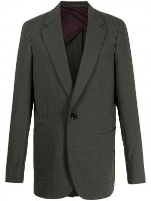 Однобортный пиджак Kolor. Цвет: зеленый