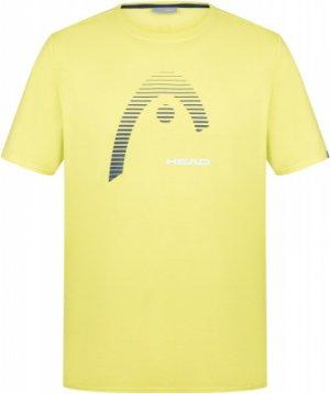 Футболка мужская Club Carl, размер 46 Head. Цвет: желтый