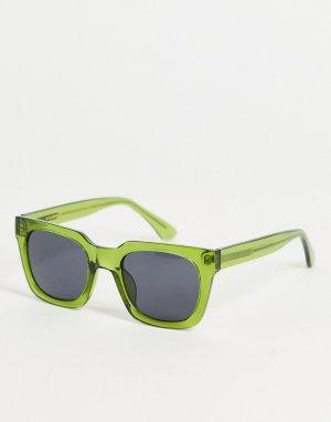 Квадратные солнцезащитные очки в стиле унисекс зеленой оправе Nancy-Зеленый цвет A.Kjaerbede
