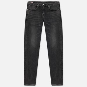 Мужские джинсы Slim Tapered Kaihara Black Stretch Denim Green x White Selvage 12.5 Oz Edwin. Цвет: серый