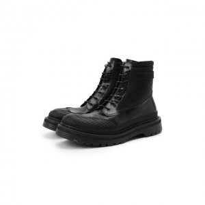 Комбинированные ботинки Premiata. Цвет: чёрный