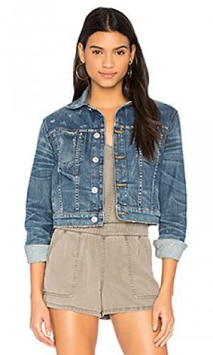 Укороченная джинсовая куртка garrison Hudson Jeans. Цвет: none