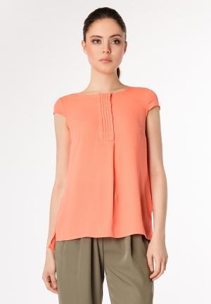 Блуза Pompa. Цвет: коралловый