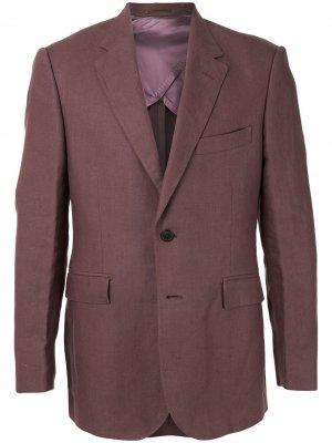 Однобортный пиджак Gieves & Hawkes. Цвет: фиолетовый