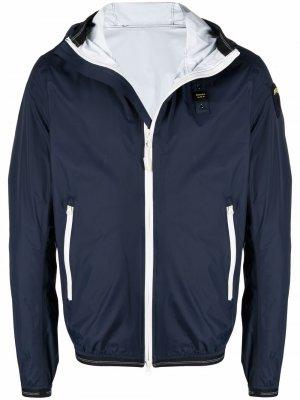 Куртка с капюшоном и нашивкой-логотипом Blauer. Цвет: синий
