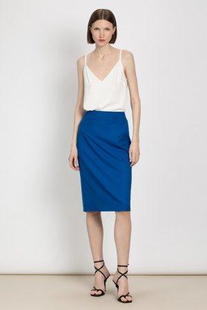 Классическая юбка зауженного силуэта VASSA&Co. Цвет: синий