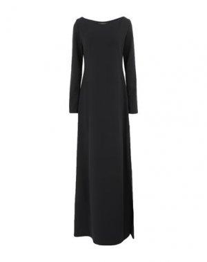 Длинное платье FISICO. Цвет: черный