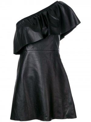 Платье на одно плечо A.L.C.. Цвет: черный