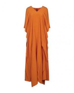 Длинное платье PIERANTONIO GASPARI. Цвет: оранжевый