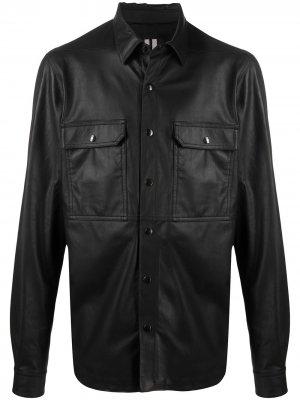 Куртка с ремешком на спине Rick Owens. Цвет: черный