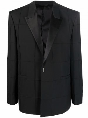 Check-pattern single-breasted blazer Givenchy. Цвет: черный