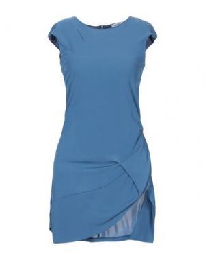 Короткое платье PARAKIAN. Цвет: пастельно-синий