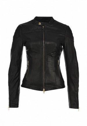 Куртка кожаная Fornarina FO019EWKZ902. Цвет: коричневый