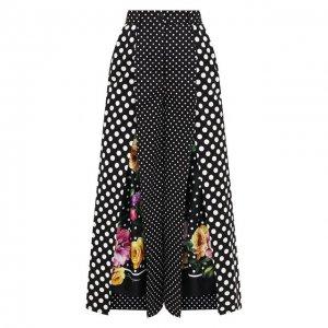 Хлопковые кюлоты Dolce & Gabbana. Цвет: разноцветный