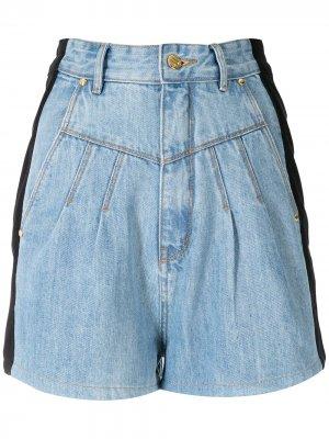 Two-tone denim shorts Amapô. Цвет: синий