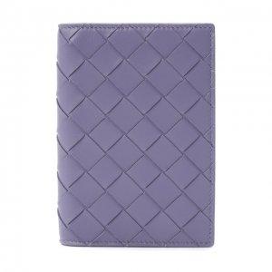 Кожаная обложка для паспорта Bottega Veneta. Цвет: фиолетовый