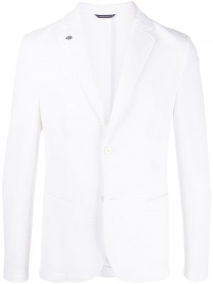 Фактурный пиджак Daniele Alessandrini. Цвет: белый