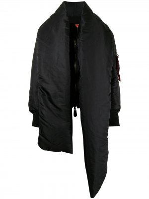 Бомбер-пуховик с шарфом Balenciaga Pre-Owned. Цвет: черный