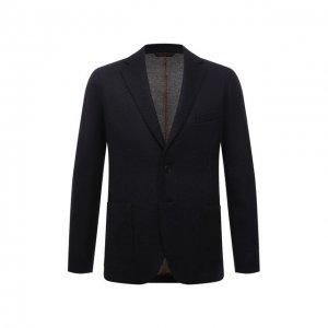 Кашемировый пиджак Andrea Campagna. Цвет: синий