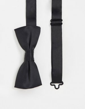 Черный атласный галстук-бабочка Only & Sons