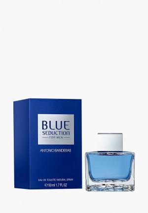 Туалетная вода Antonio Banderas BLUE SEDUCTION 50 мл. Цвет: белый