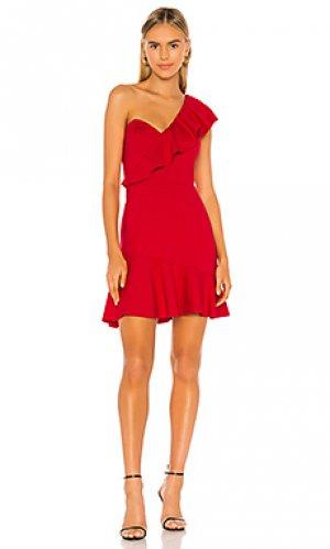 Мини платье mckinnon Amanda Uprichard. Цвет: красный