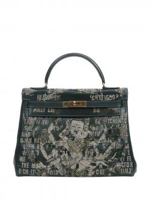 Hermès Kelly Sellier tote bag Jay Ahr. Цвет: зеленый
